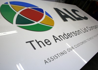 Anderson Lid Laser Cut sign