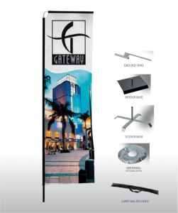 outdoor displays, telescopic flags, banner printing cape town,