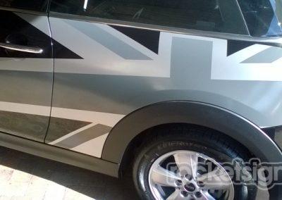 car decals - mini one