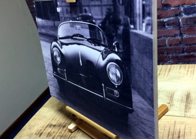 porche print on Plywood 2