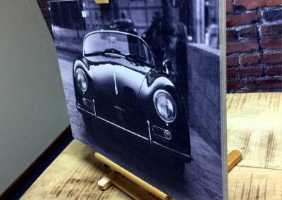 porche print on Plywood 2