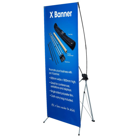 X Banners Full Colour Digitally Printed Rocketsigns